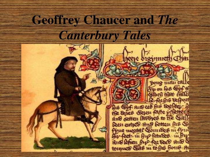 geoffrey chaucer and the canterbury tales n.