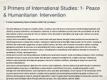 3 primers of international studies 1 peace humanitarian intervention1