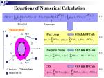 equations of numerical calculation