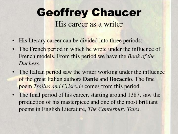 chaucers contribution to the development of english literary tradition essay Geoffrey chaucer's contribution to english literature is extremely important he was the first english writer to write in the vernacular previously, latin was the language used by writers.