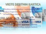 vrste debitnih kartica