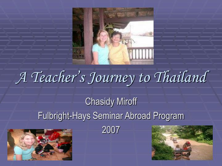 a teacher s journey to thailand n.