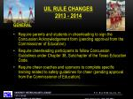 uil rule changes 2013 20141