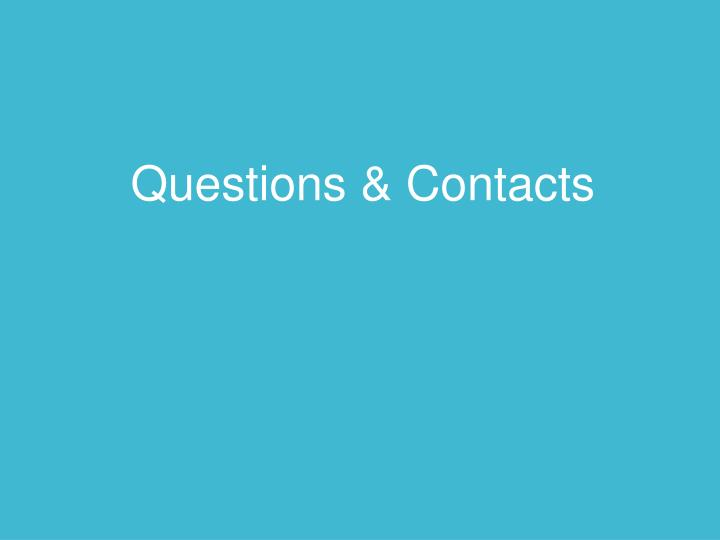 Questions & Contacts