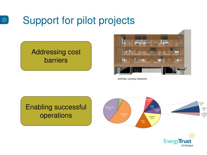 Support for pilot projects