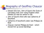 biography of geoffrey chaucer2