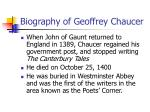 biography of geoffrey chaucer6