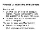 finance 2 investors and markets