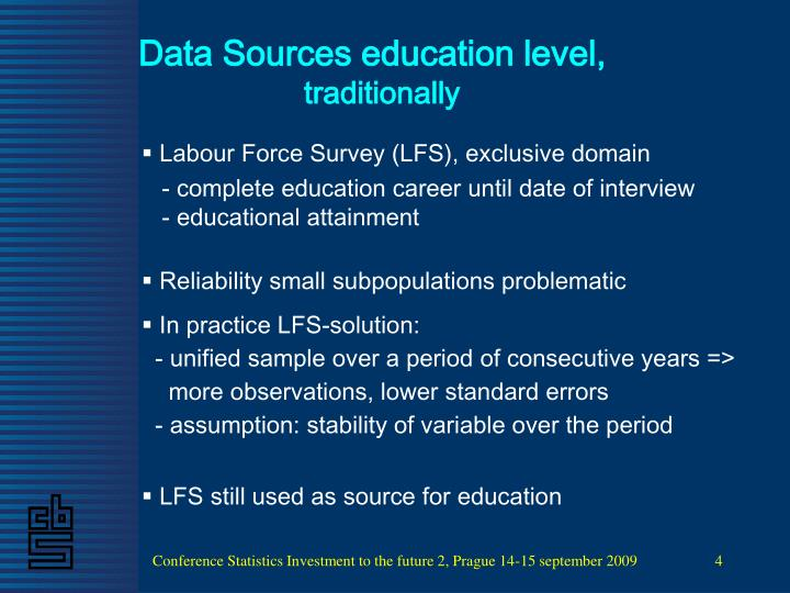 Data Sources education level,