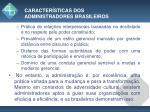 caracter sticas dos administradores brasileiros1