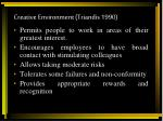 creative environment triandis 1990