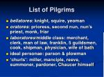 list of pilgrims