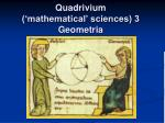 quadrivium mathematical sciences 3 geometria