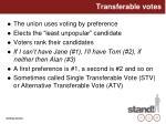 transferable votes