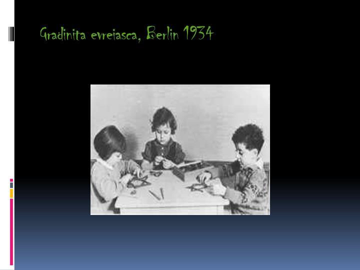 Gradinita evreiasca berlin 1934