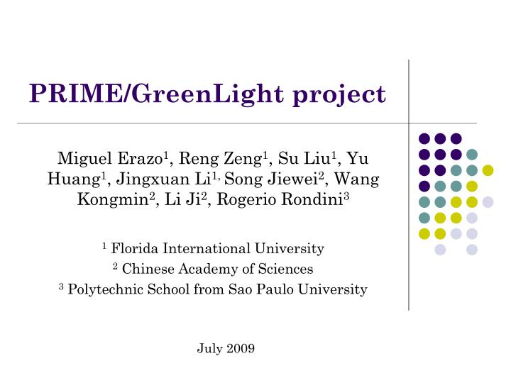 prime greenlight project n.