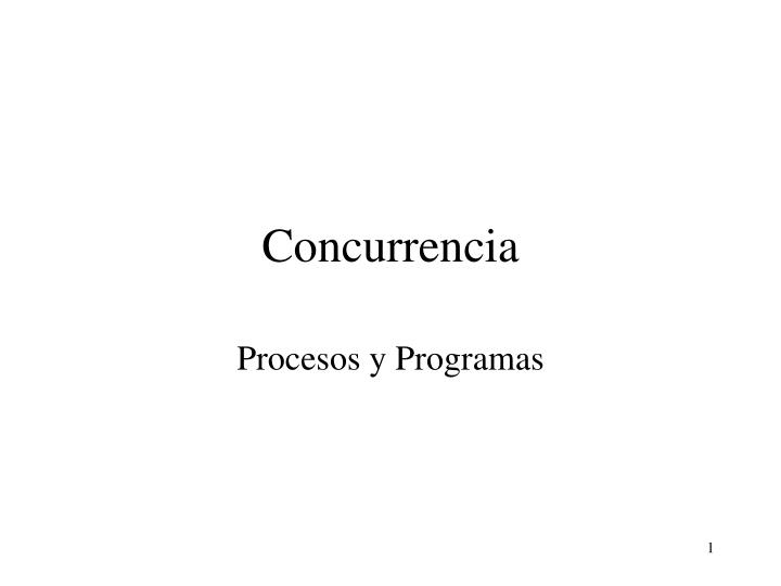 concurrencia n.