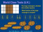 world class tests u k