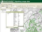 inputting usage data