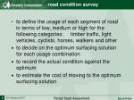 road condition survey