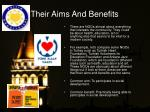 their aims and benefits