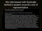 we interviewed with ey bo lu school s student council s one of representative