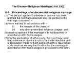 the divorce religious marriages act 2002