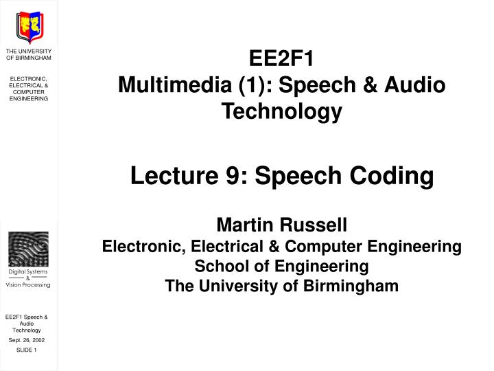PPT - What is speech coding? PowerPoint Presentation - ID