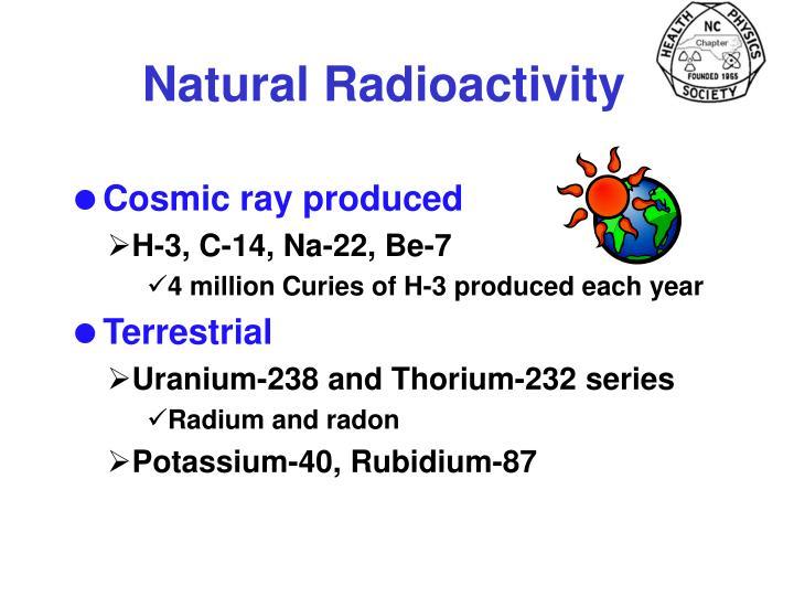 Natural Radioactivity