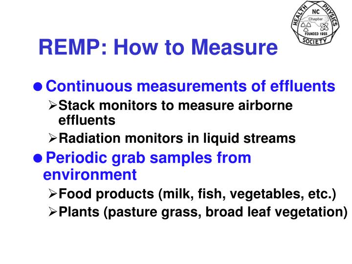 REMP: How to Measure