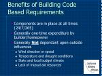 benefits of building code based requirements