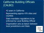california building officials calbo