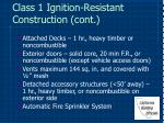 class 1 ignition resistant construction cont