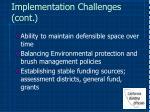 implementation challenges cont