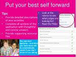 put your best self forward
