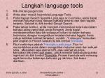 langkah language tools