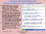 langkah mengaktifkan dan menggunakan search engine google2