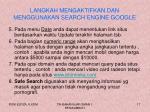 langkah mengaktifkan dan menggunakan search engine google4
