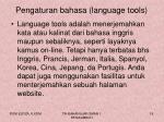 pengaturan bahasa language tools