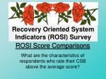 rosi score comparisons