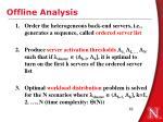 offline analysis