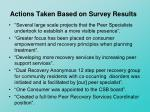 actions taken based on survey results