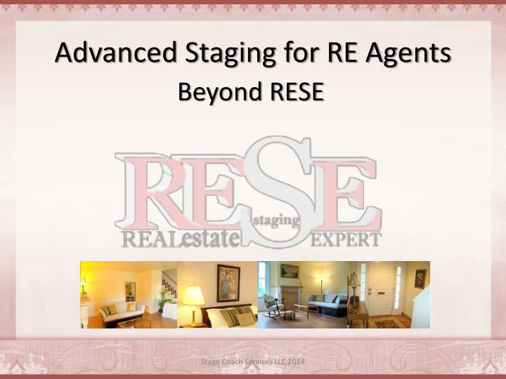 advanced staging for re agents n.