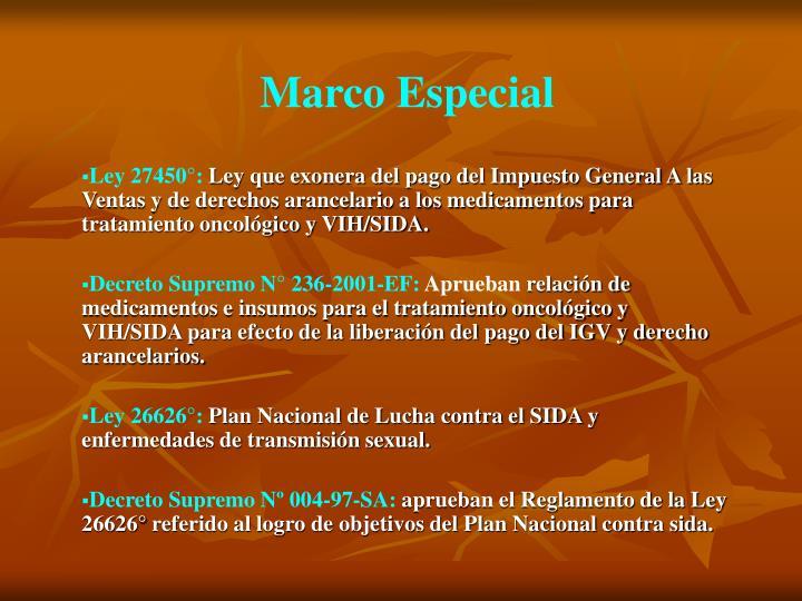 Marco Especial