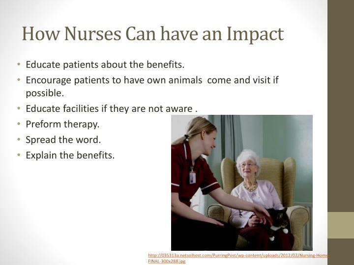 How Nurses Can have an Impact