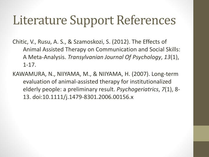 Literature Support References