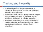 tracking and inequality