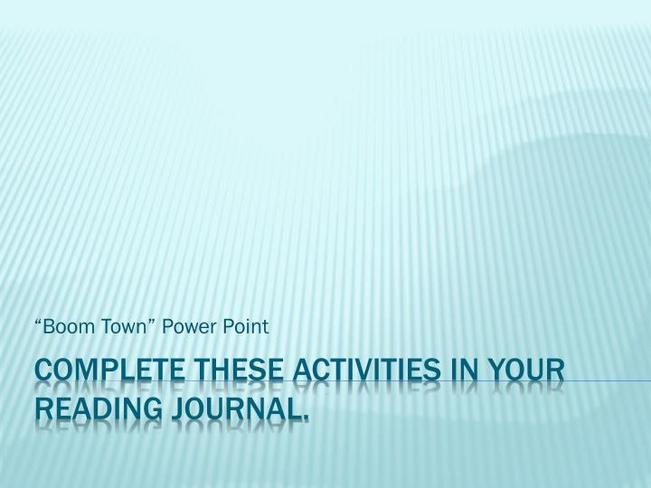 boom town power point n.