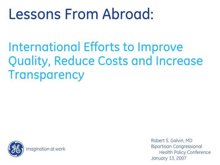 lessons from abroad n.