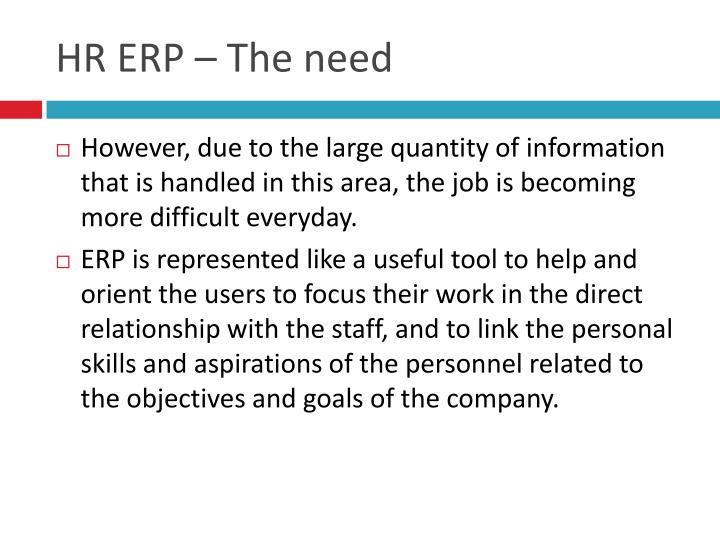 Hr erp the need